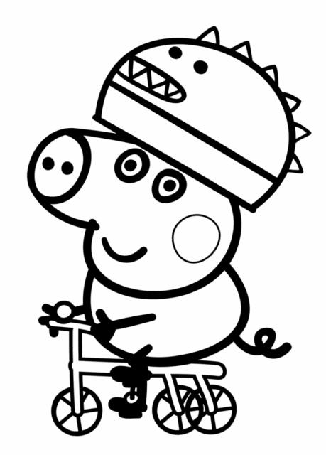 desenhos para colorir Peppa Pig cachorro