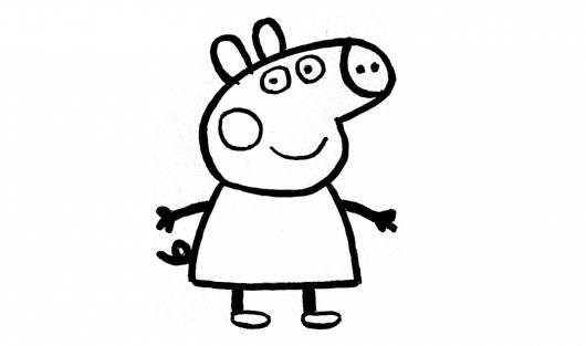 desenhos para colorir Peppa Pig somente peppa