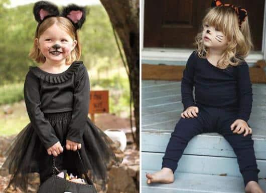 Fantasia improvisada infantil para meninas