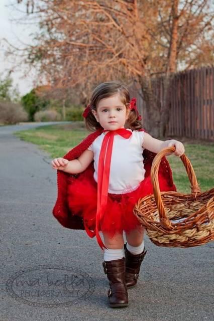 fantasia infantil improvisada de chapeuzinho vermelho