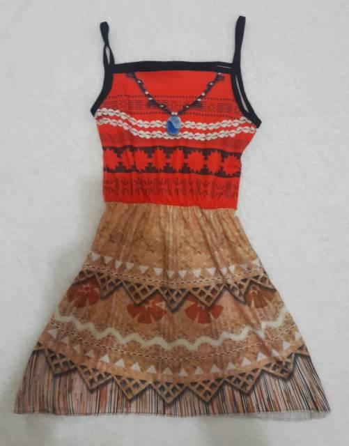 Fantasia Moana vestido estampado