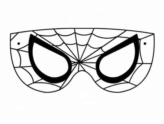 máscara de homem-aranha