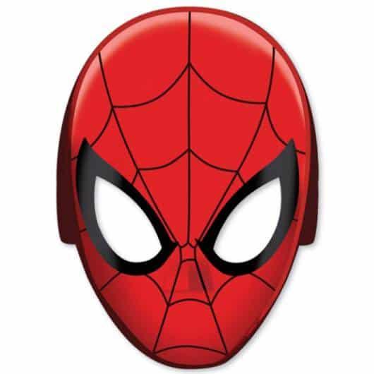Máscara do Homem-Aranha bem realista para imprimir