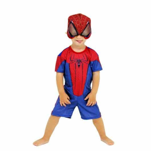 Modelo de máscara de homem-aranha na fantasia para o verão