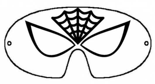 Máscara do Homem-Aranha para imprimir e colorir
