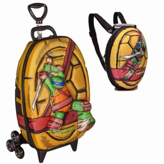mochila infantil com rodinhas 3D