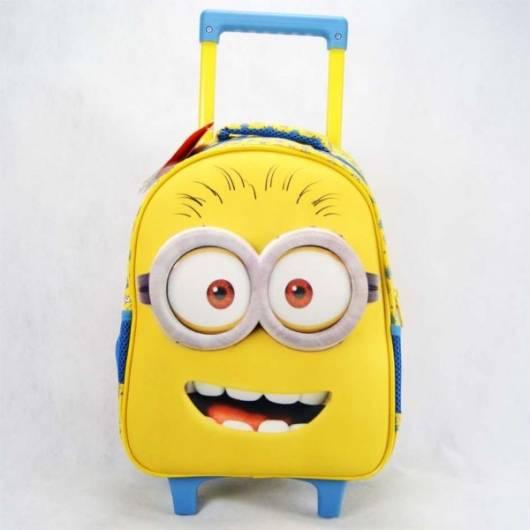 mochila infantil com rodinhas dos Minions