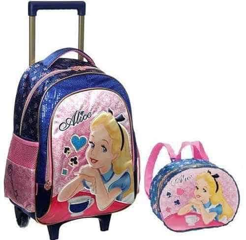 mochila infantil com rodinhas para meninas