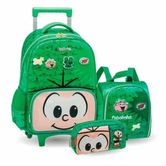 mochila infantil com rodinhas para menino kit