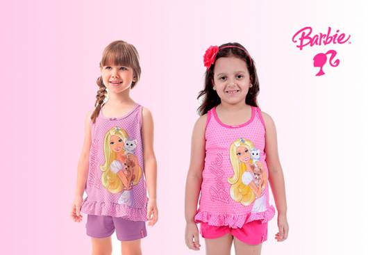 Pijamas de verão da Barbie