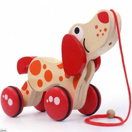 Brinquedos Antigos de madeira cachorro