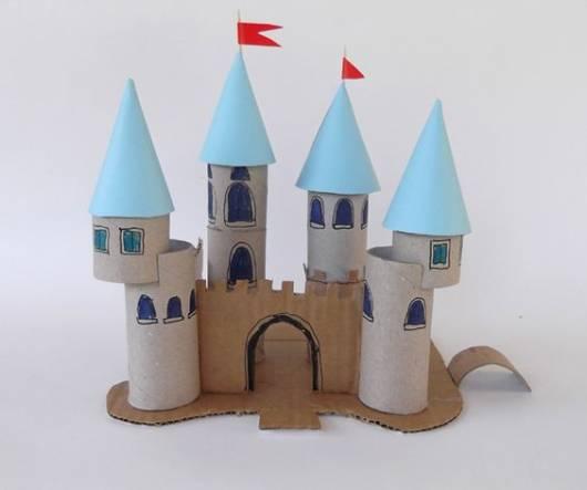 castelo de rolinho de papel higiênico