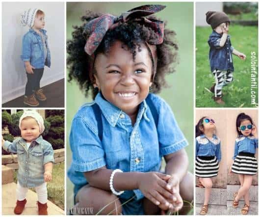 3546fe6af8 Camisa Jeans Infantil – 60 Modelos Divos   Dicas para Compor Looks!