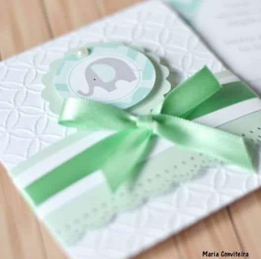 convite verde menino