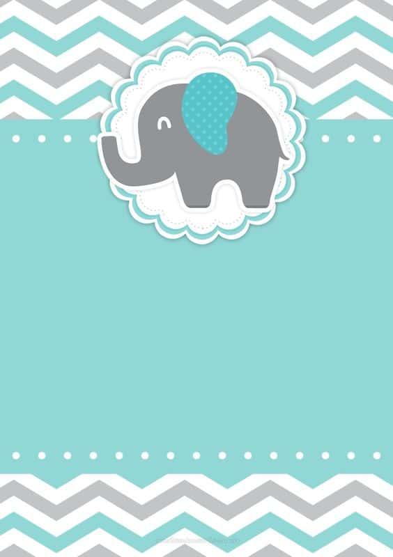 convite elefantinho para imprimir grátis