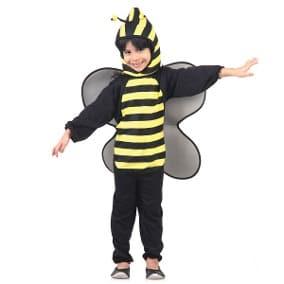 Fantasia de Abelha macacão para meninos com asas pretas