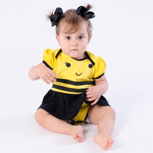 Fantasia de Abelha para bebê body de abelhinha