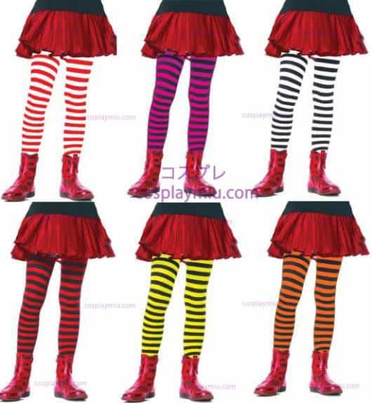 Fantasia de Abelha meias listradas coloridas para compor o look