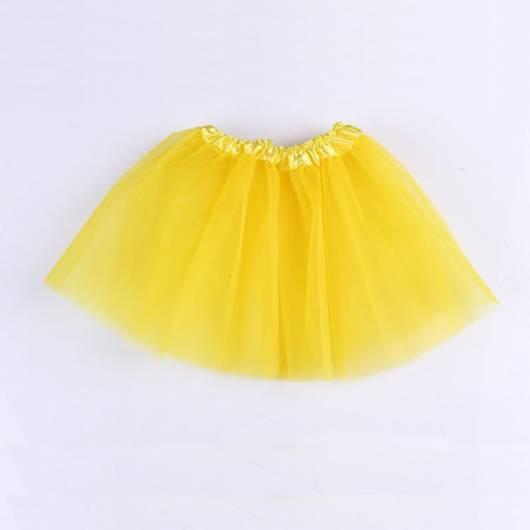 Fantasia de Abelha saia de tule amarela