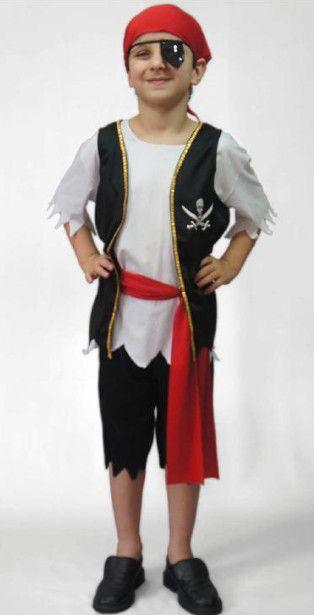 fantasia infantil masculina de pirata.