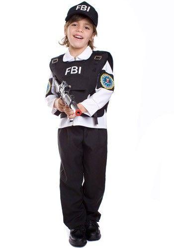Fantasia infantil masculina do FBI.