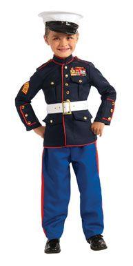 Fantasia infantil masculina de militar.