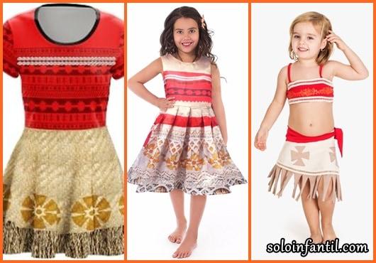 Fantasia Moana modelos de vestido
