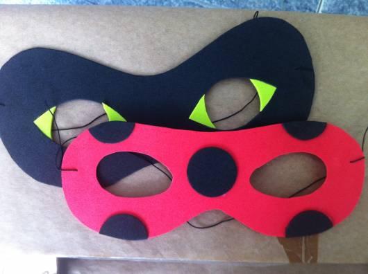 máscara Ladybug em eva