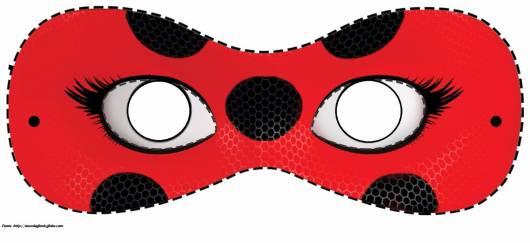 molde máscara Ladybug