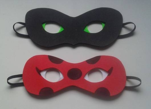 máscara Ladybug de emborrachado