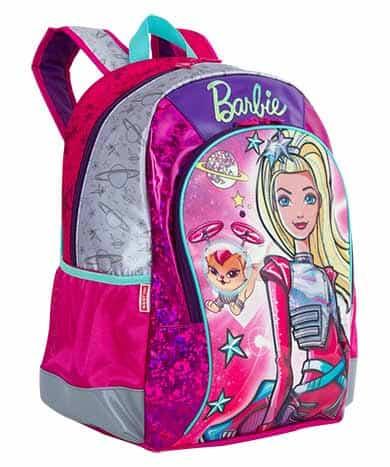 Mochila da Barbie modelo Aventura nas estrelas de costas