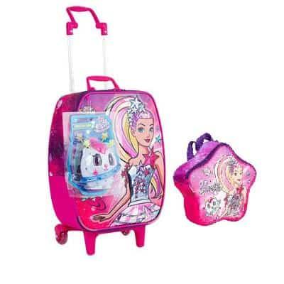 Mochila da Barbie modelo Aventura nas estrelas com lancheira