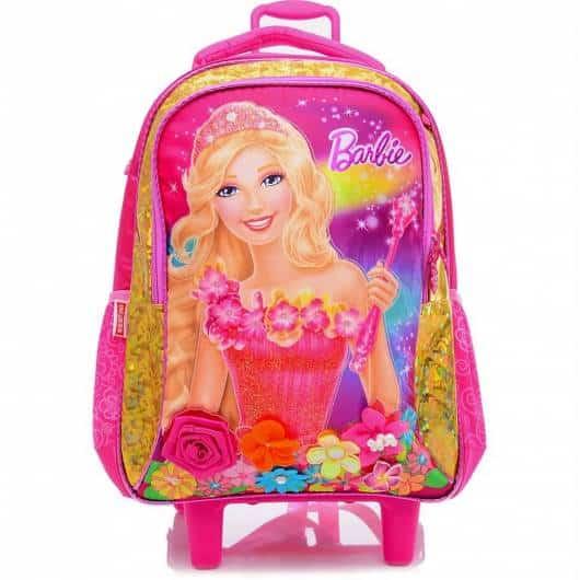 Mochila da Barbie modelo Portal Secreto com rodinhas