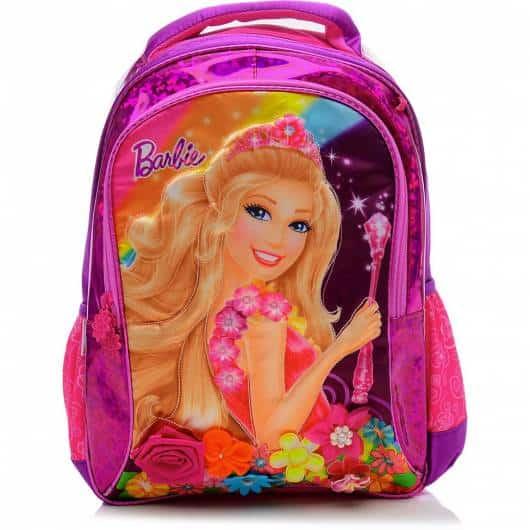 Mochila da Barbie modelo Portal Secreto rosa pink e violeta
