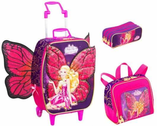 Mochila da Barbie modelo Butterfly com asas de rodinha