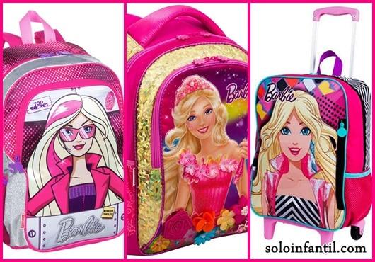 Mochila da Barbie modelos de costas e rodinha