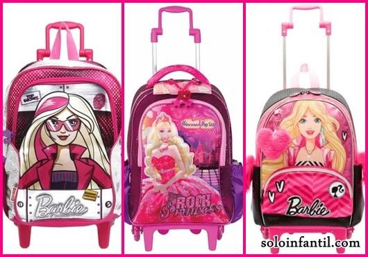 Mochila da Barbie modelos de rodinha