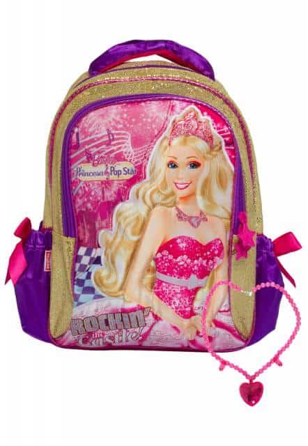 Mochila da Barbie modelo de costa Rockin the Castel com colar