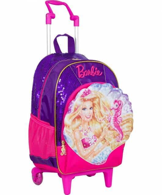 Mochila da Barbie modelo de rodinha Barbie Princesa