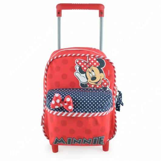 mochila da minnie com rodinha