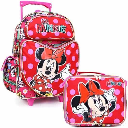 ideia de mochila da minnie kit com lancheira