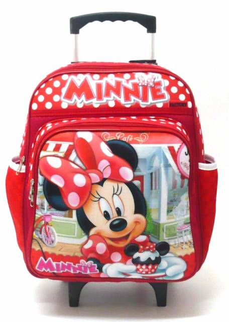 Mochila de carrinho da Minnie vermelha
