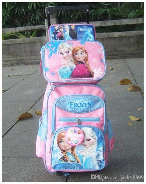kit mochila rosa