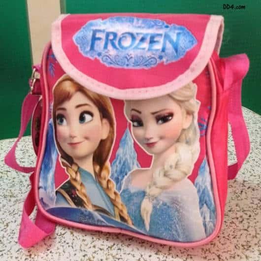 mochila rosa Anna e Elsa