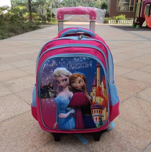 mochila de carrinho rosa e azul