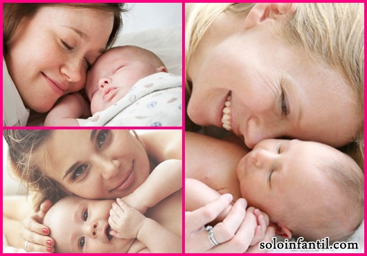 Parto Normal mãe segurando bebê