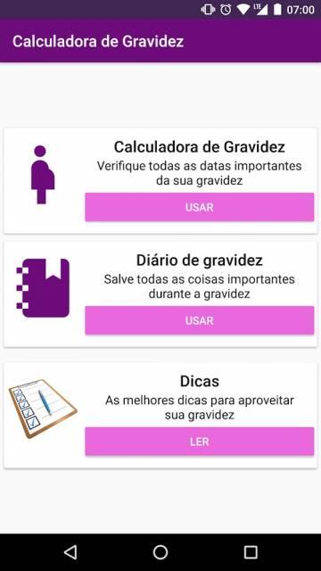 app Calculadora de Gravidez
