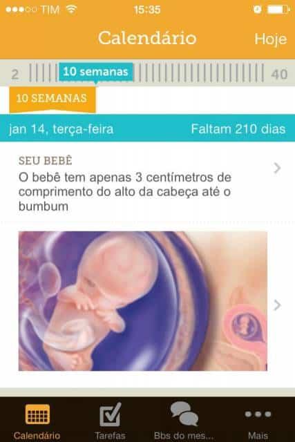 aplicativo desenvolvimento bebê