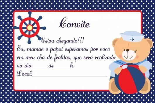 Convite Cha De Fraldas 85 Ideias Adoraveis Modelos Para Imprimir