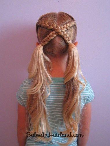cabelo longo com trança